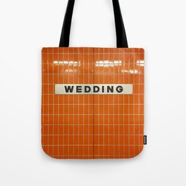 Berlin U-Bahn Memories - Wedding Tote Bag