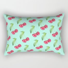 Cherry Aqua Rectangular Pillow