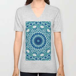 Sea Green Mandala Unisex V-Neck