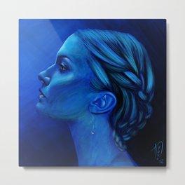 Blauw Metal Print