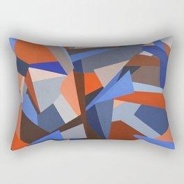 Orange & Blue Geoprint Rectangular Pillow