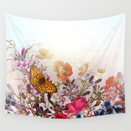 Meadow flowers. Shiny happy morning Wall Tapestry