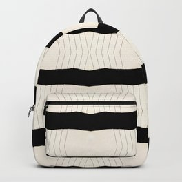 Paper Page Ripped Scan Lines Backpack