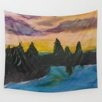 maine Wall Tapestries featuring Maine by Lissasdesigns