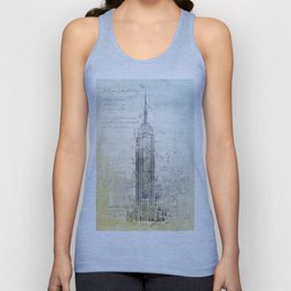 Empire State Building, New York USA Unisex Tank Top