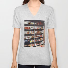 My oh my what is on the shelf?  Unisex V-Neck