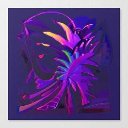 Tropical Sounds under Moon Light Canvas Print