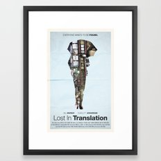 Lost In Translation Framed Art Print