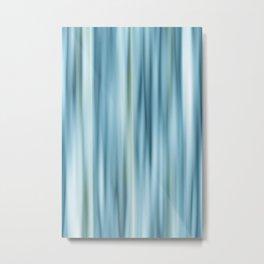 Stripes light blue Metal Print