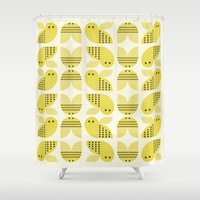 bee Shower Curtains featuring Bee  by huemula
