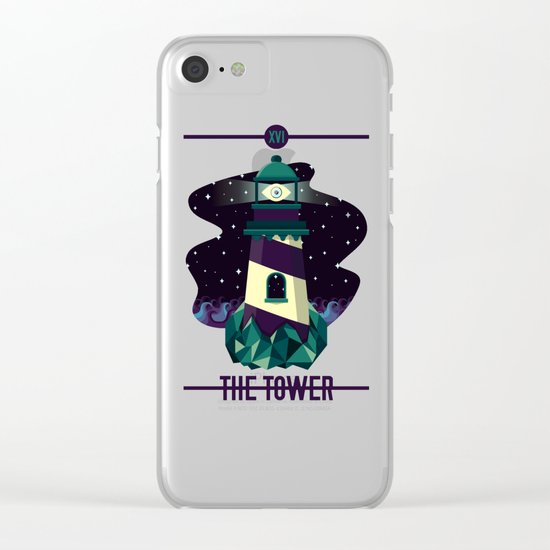 THE TOWER Clear iPhone Case