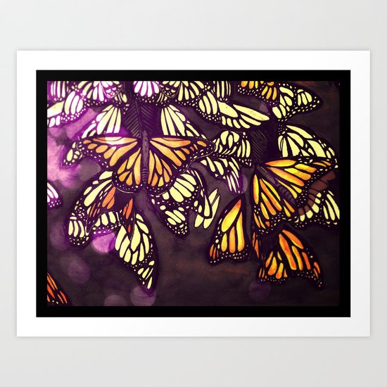 The Monarch (variation) Art Print