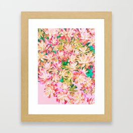Cactus Fall - Pink and Green Framed Art Print