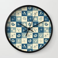 nautical Wall Clocks featuring Nautical  by Julscela