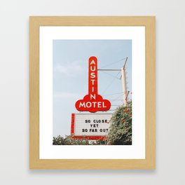 Austin Motel Sign, Austin, Texas Framed Art Print