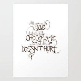 A Little Chocolate Art Print