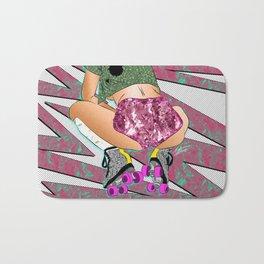 sK8 or DIE - 90's Roller Derby Girl Digital Drawing Bath Mat