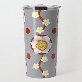 Flowers And Circles Travel Mug