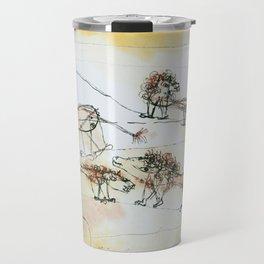 A Pride of Lions by Paul Klee, 1924 Travel Mug