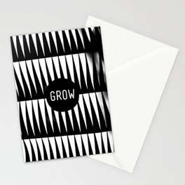 Black and White Grass (Customizable Label) Stationery Cards