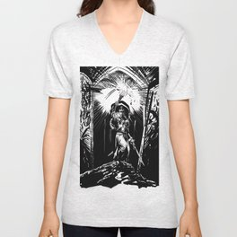 Traversing the Deep Unisex V-Neck