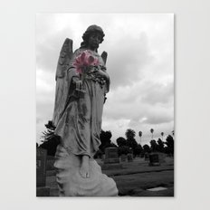 Angel holding Flowers Canvas Print