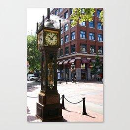 Gastown Steam Clock - Vancouver Canvas Print
