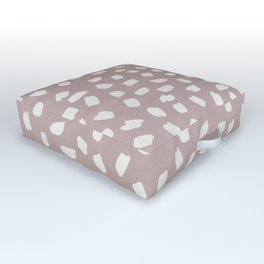 Simply Ink Splotch Lunar Gray on Clay Pink Outdoor Floor Cushion