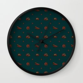 Roly Poly Party! Clown/Montenegro on Blue Wall Clock