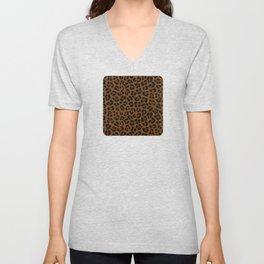 Leopard Print - Dark Unisex V-Neck