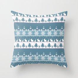 Retro .Christmas . Throw Pillow