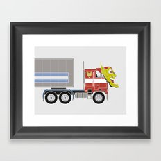 Robot's Wrong Disguise Framed Art Print