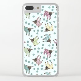 Pajama'd Baby Goats - Blue Clear iPhone Case