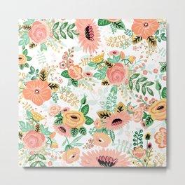 Celebration Floral Pattern Metal Print