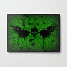 Fallen Angel Green Metal Print