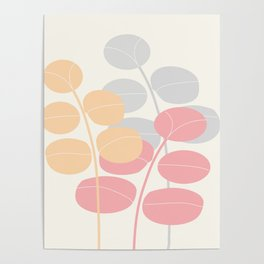 Pastel Leaves  #Society6 #decor #buyart Poster