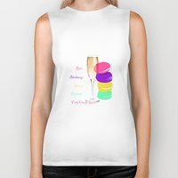 macaron Biker Tanks featuring only classy girls by myepicass