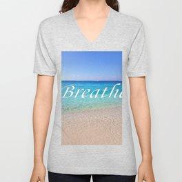 Breathe Cayman Relaxing Beach Waves Unisex V-Neck