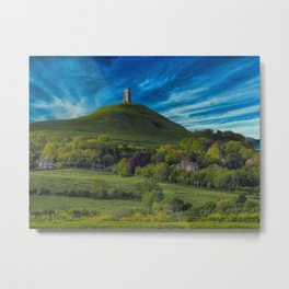 Glastonbury Tor Metal Print