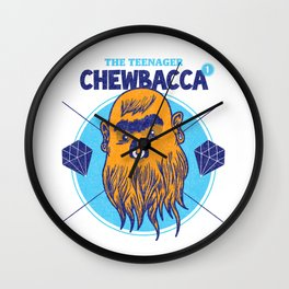 Hipster Chewie Wall Clock