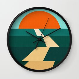 Abstract landscape XIII Wall Clock