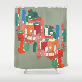body interaction Shower Curtain