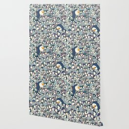 Baby Penguin Pattern Wallpaper