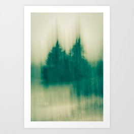Winter Tree Abstract Art Print
