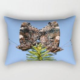 Red Admiral Butterflies Mating Rectangular Pillow