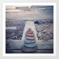 Cairn With an Agate on Top Art Print