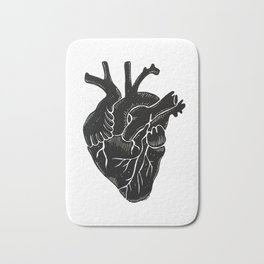 Black Heart II Bath Mat