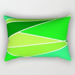 Broken Green Hues Rectangular Pillow