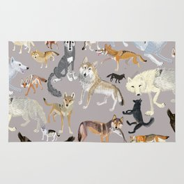 Wolves of the world 1 Rug