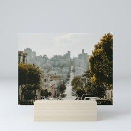 Uphill Street in San Francisco Mini Art Print